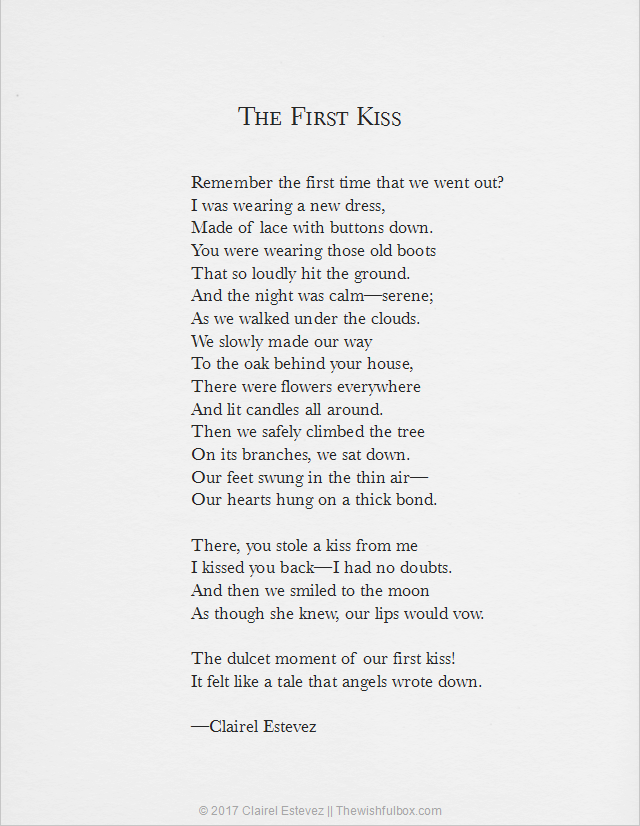 poems about first kiss with you
