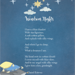 children poetry Wondrous nights of stars plush and clouds