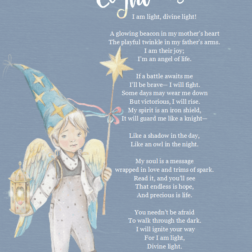 Poem Light childhood cancer joy life angel shadow