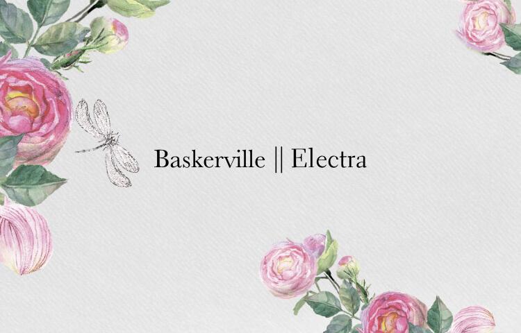 Favorite Typefaces: Electra & Baskerville