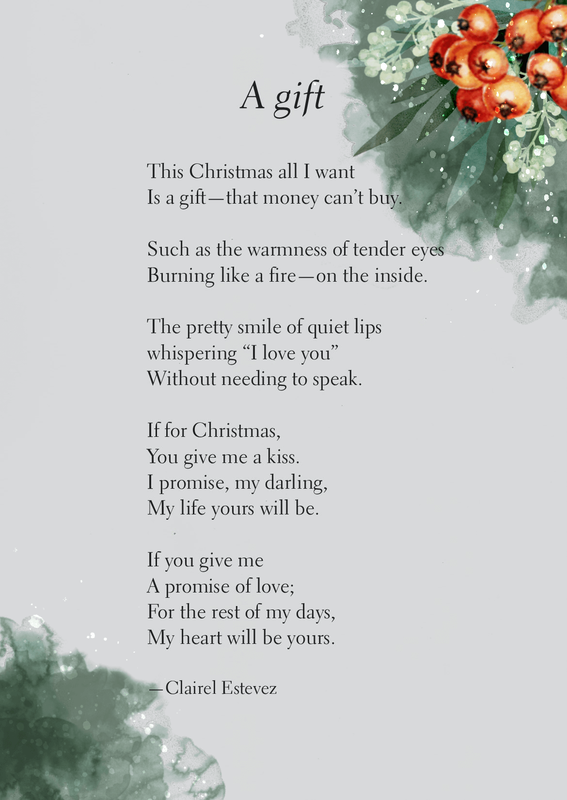 A Gift: Christmas Love Poem