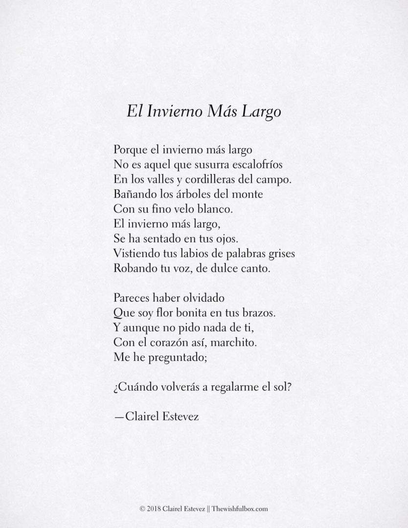 El invierno m s largo poema de invierno y amor poes as for Poemas de invierno