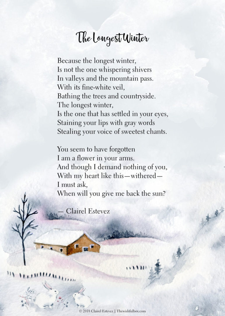 Seven Winter Poems Love Life Inspirational Wintry Words