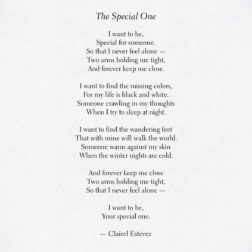Inspirational poetry about love, life and beautiful words, poem, poems, by poet and writer Clairel Estevez