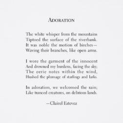 Adoration an uplifting rain and nature poem